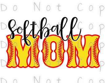 Softball Mom Outline Waterslide Decal - Perfect for Tumblers - Tumbler Supplies - Clear - White - Laser Printed Decals - Photo Decals