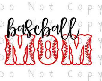 Baseball Mom Outline Waterslide Decal - Perfect for Tumblers - Tumbler Supplies - Clear - White - Laser Printed Decals - Photo Decals