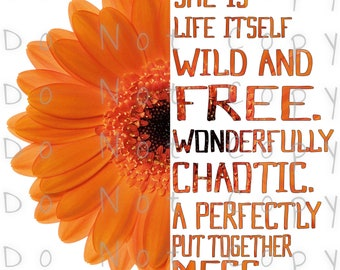 Wild And Free Mum Waterslide Decal - Perfect for Tumblers - Tumbler Supplies - Clear - White - Laser Printed Decals - Photo Decals