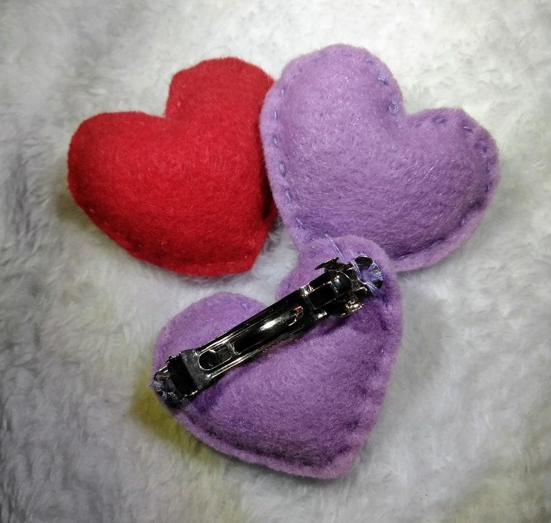 Felt Heart Hairclips