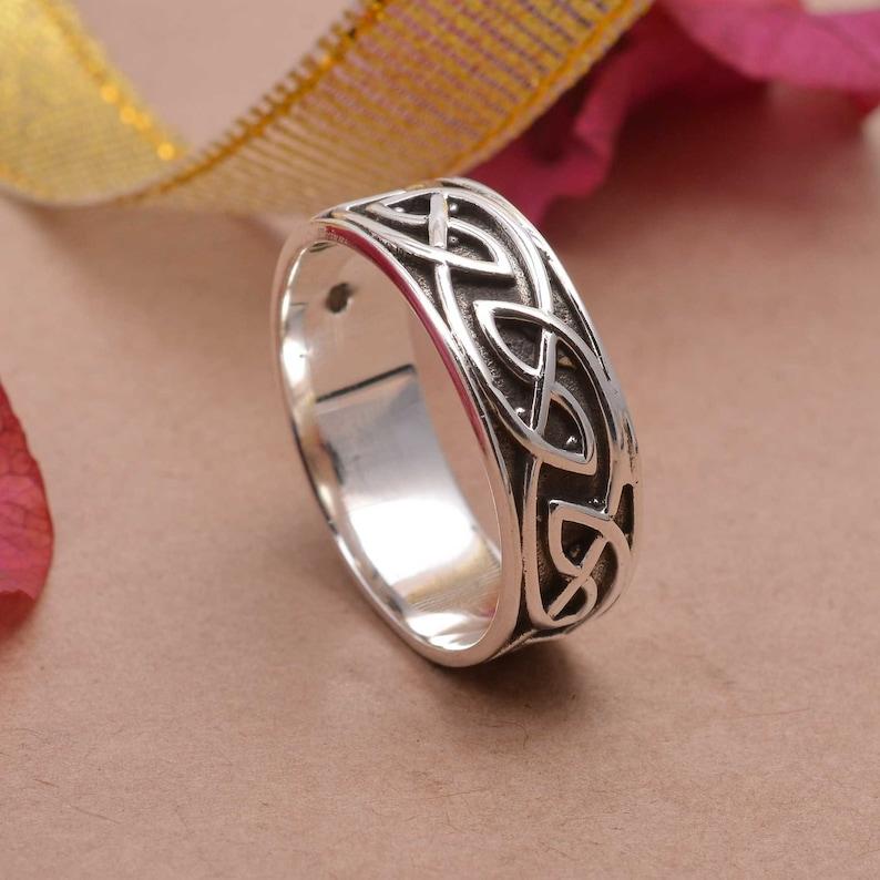 Hammered Silver Ring Thumb Ring Textured Band Ring Unisex Ring Band Ring Mens Ring