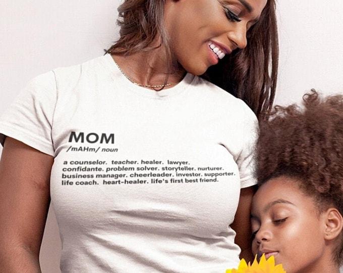 Mom Definition Tee Shirt