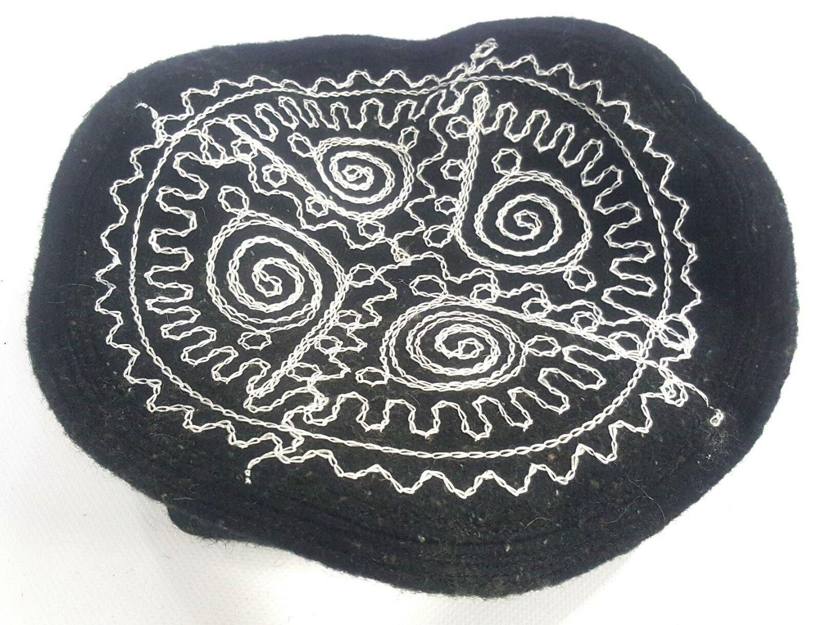 Embroidered Black Pakol Pakul Afghan Donut Hat Beret Chitral Etsy