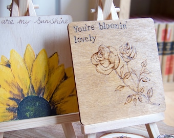 Wooden Gift Plaque With Easel