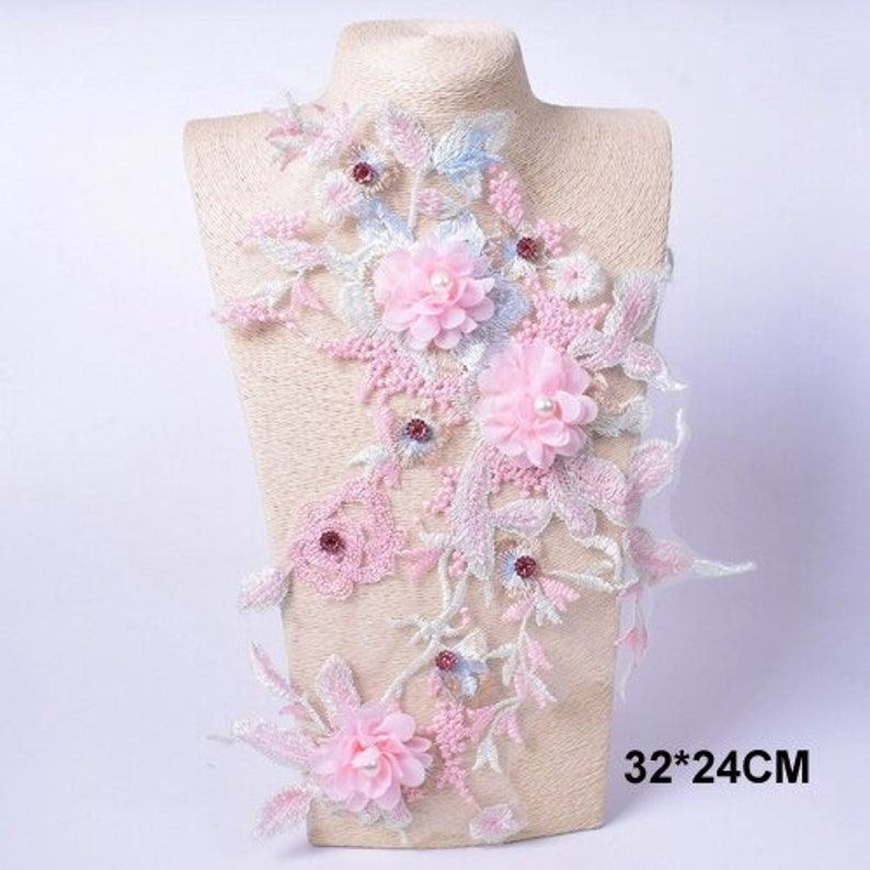 26 Variations Applique For Evening Dress 3D Flower Patch Sew On Fabric Embroidery