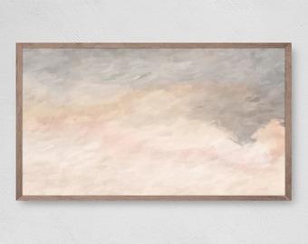 Abstract Oil Neutral Tones, Modern Oil Art, Samsung Frame TV Art, Pastel Art, Instant Download, Digital Download for Samsung Frame