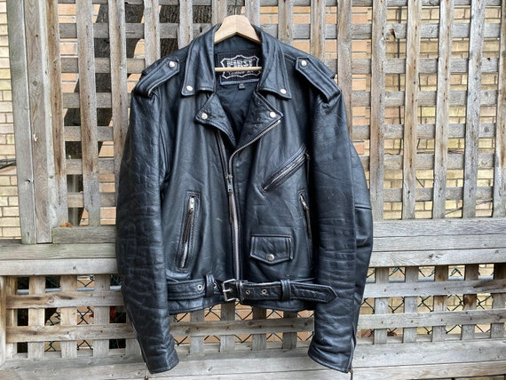 Vintage 1980's leather motorcycle jacket