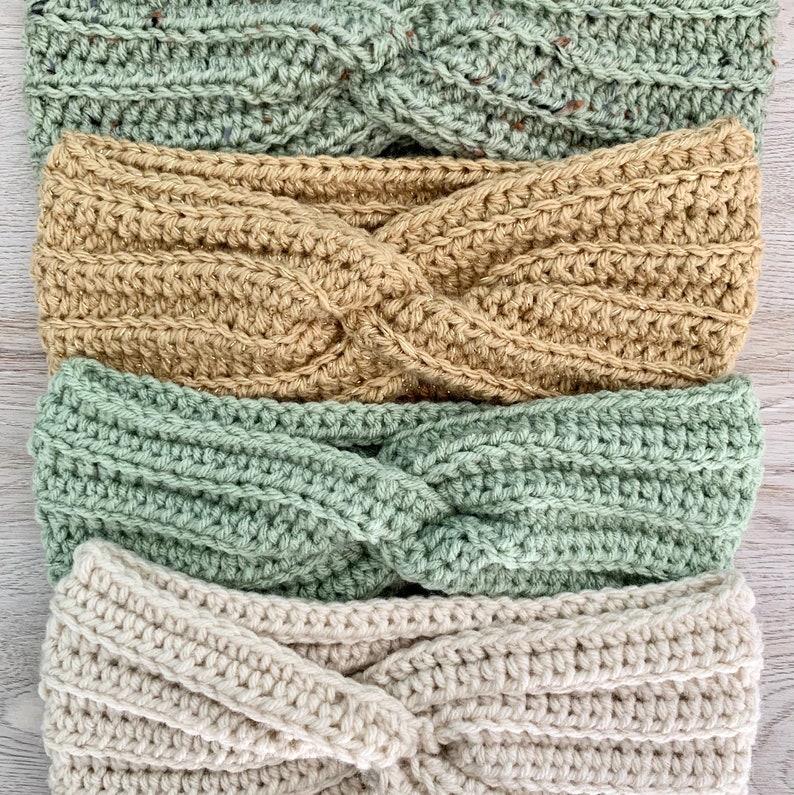 Stocking Stuffer Ear Warmer Ear Warmer Twist Headband Chunky Head Crochet Ear Warmer Ear Warmers