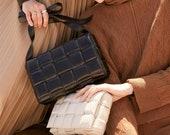 Weaving luxury handbags pillow bag padded cassette genuine leather one-shoulder designer bags famous brand women bags 2020