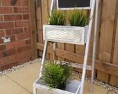 Plant stand flower stand ladder planter flower bed