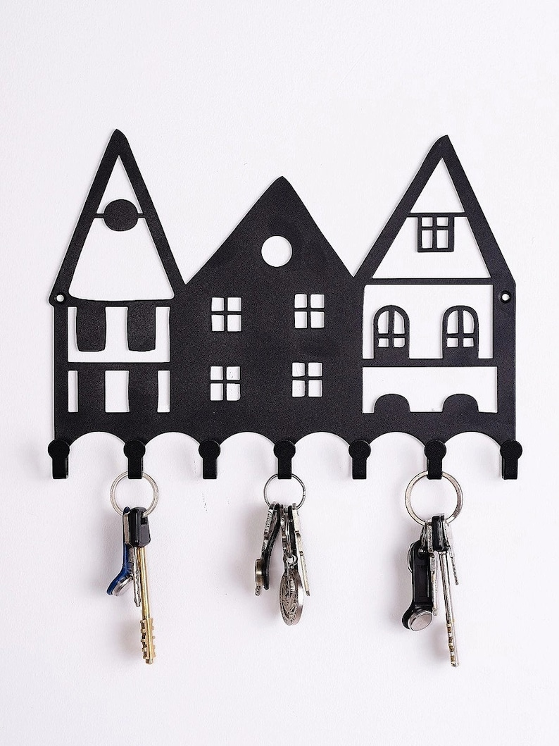 Gift Vintage Key Hanger Wall Key Holder Metal holder for keys Hooks Key Holders Metal key keeper Home Wall Key Rack Owl
