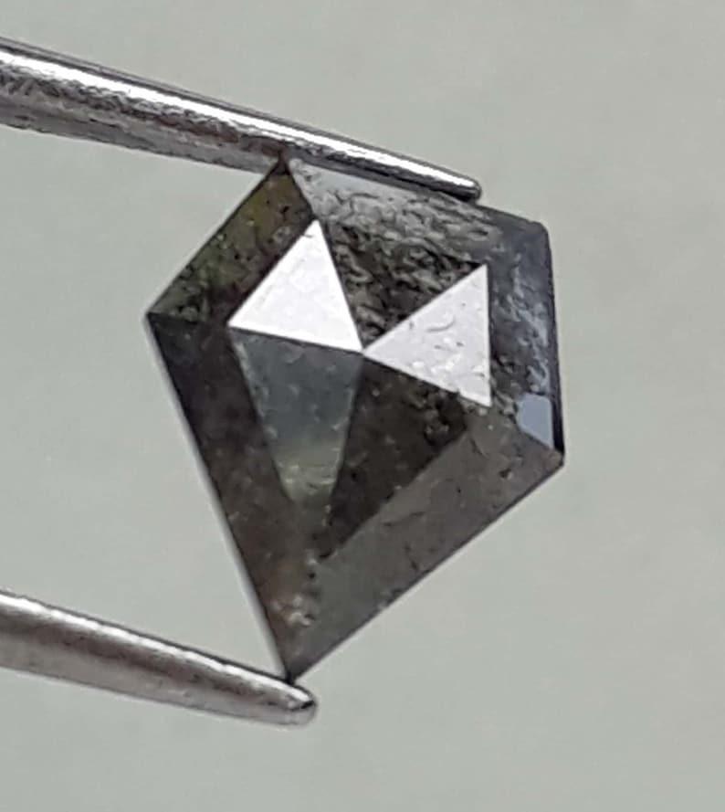 Salt And Papper Pentagon Shape Rose Cut Diamond,Making For Antique Jewelry Engegment Rings 7.50M\u00d72.23M\u00d76.23M 0.91 Cts,Natural Loose Diamond