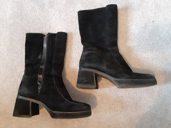 Black Suede Hush Puppies GoGo Boots
