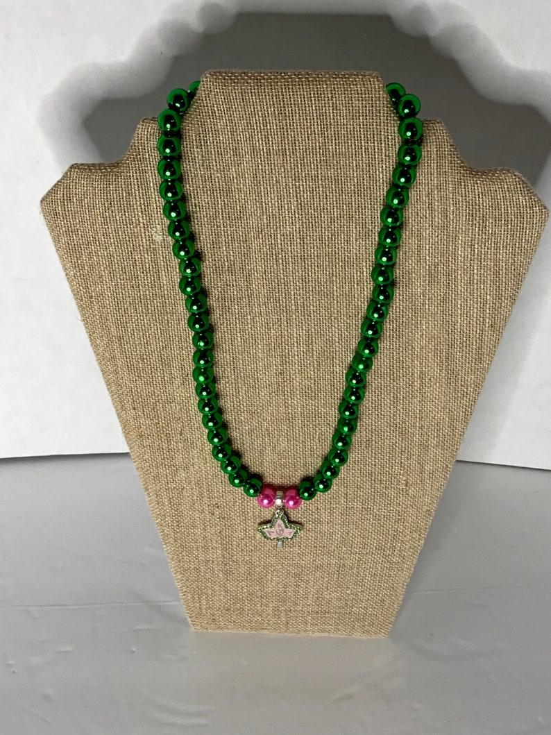 Ivy Leaf Necklace for Alpha Kappa Alpha for AKA
