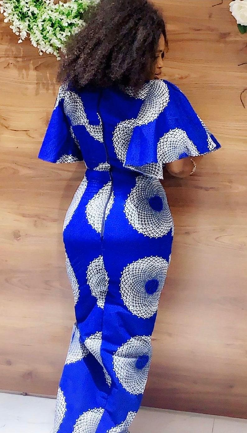 Afrikanische traditionelle Kleid lange Ankara Kleid   Etsy