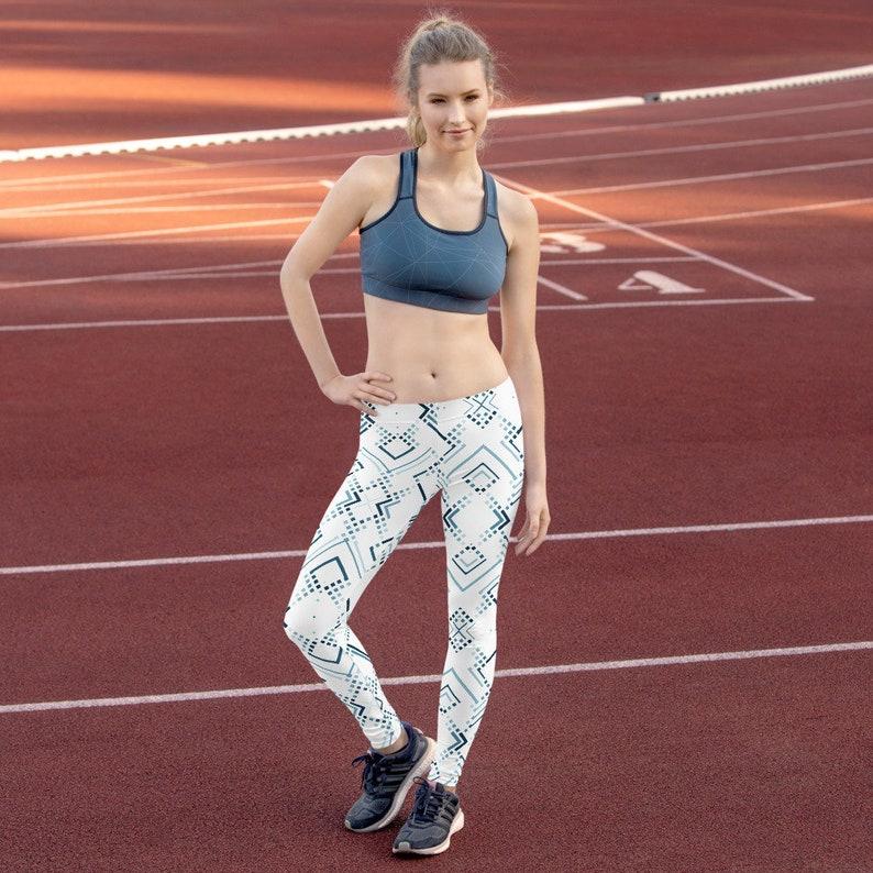 Leggings Texturized Abstract Mid Rise Leggings
