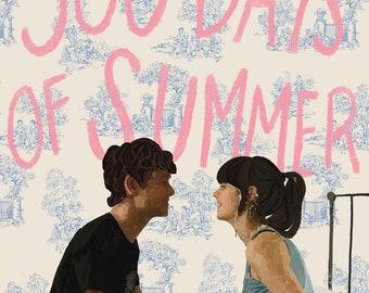 500 Days of Summer by Marc Webb | Movie Poster | Digital Download | Illustration | Zooey Deschanel | Joseph Gordon-Levitt | Digital |