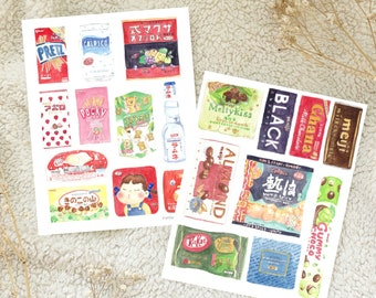 Asian Snack Print Watercolour Postcard Bundle Set of 2