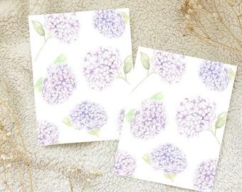 Hydrangea Watercolour Card Postcard Snail Mail