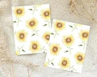 Sunflower Watercolour Card Postcard Snail Mail