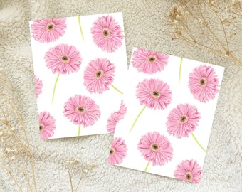 Pink Gerbera Daisy Watercolour Card Postcard Snail Mail