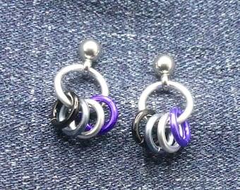 Ace Asexual Post Fidget Earrings - LGBTQ+ Pride Stim Jewelry