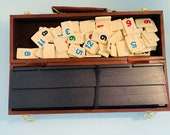 Vintage Hoyle Rummy Game in Leatherette Travel Case, vintage rummy game, antique Hoyle game, collectible board game, vintage game