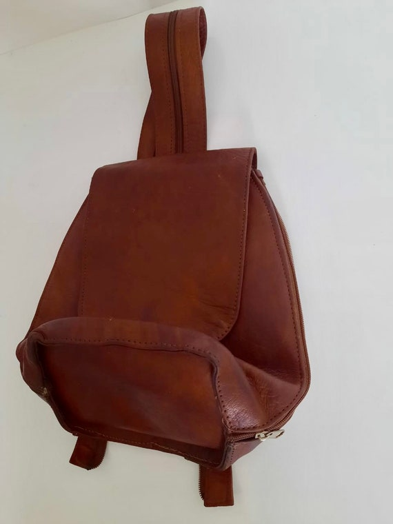 Vintage leather bag  ,brown Leather bag Italian le