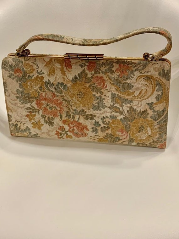 Victorian handbag, finest French tapestry, French