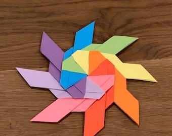 origami transforming star (disco) | yoponchoytu | Flickr | 270x340