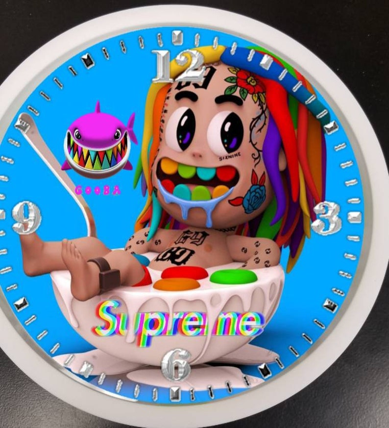 Tekashi in bowl led loghts clock