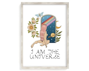 Pink Printable Poster Digital Downloads Saturn Print Space Print Universe Art Print Gallery Wall Print
