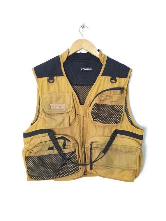 Vintage Canon Vest Multipocket Photographer Vest F