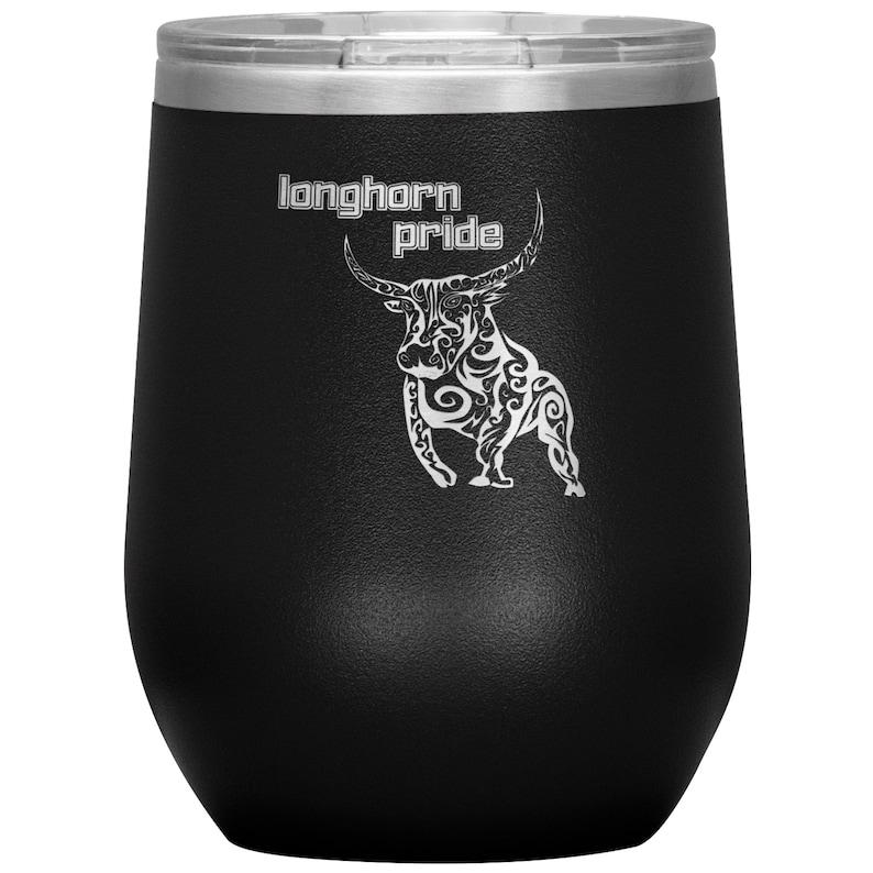 wine vacuum tumbler 12 oz Longhorn Pride