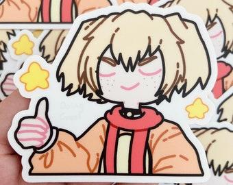 DOGGO cute thumbs up vinyl sticker