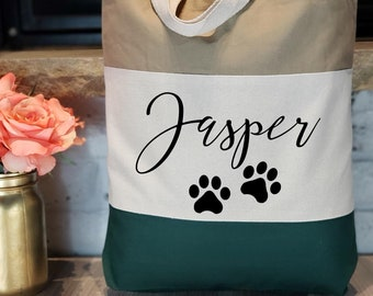 gift Mastiff Canvas Tote Dog Park Toe Bag Rope Handle pet dogs custom Toy Bag canine