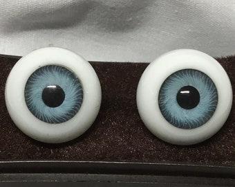 Vintage Glasaugen West Germany Glass Craft Doll Eyes 12 mm Brown 1 Pair
