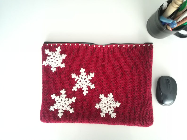 Gift for Wife Gift for Her Laptop Case Crochet MacBook Sleeve Sleeve for Laptop Christmas Gift