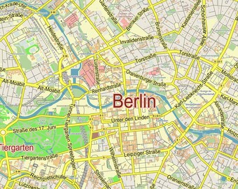 Custom map Berlin Germany. Wall decor. Personalized map print. City wall art. Custom map prints. Gift idea. Map wall art. Where we met map.