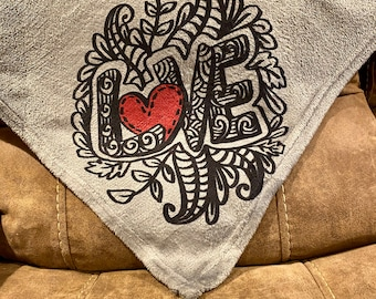 Love blanket | Ink drawing style image