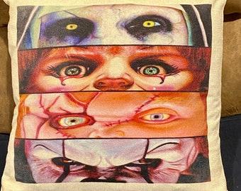 Halloween decor pillowcase - scary - it - chucky - annabella