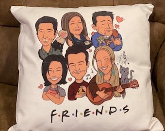 Friends TV Show Pillowcase | Cartoon Friends characters | Friends pillowcase | friends pillow cover
