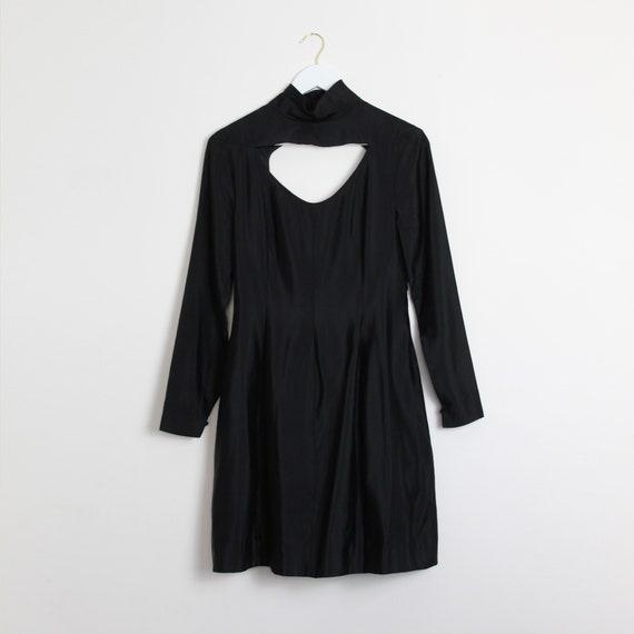 Black Cut-Out Cocktail Dress
