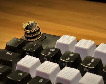 best gifts for him Blue Ocean Dragon Spacebar Resin Keycap Handmade Keycaps Custom Lucky Dragon Artisan Keycap Mechanical Keyboard