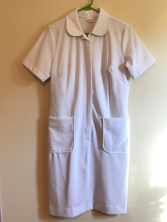 Vintage 60s or 70s Crest nurse uniform dress