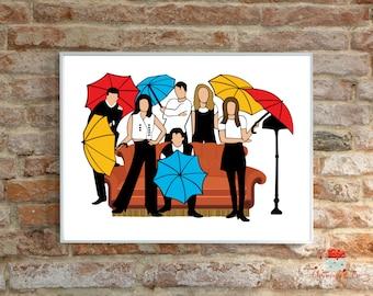 Friends TV Show / Friends / Friends TV Show Printable / Friends TvShow Decor / Friends Wall Decor / Friends Pop Art / PRINTABLE Wall Art