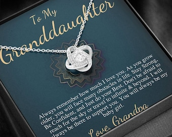 To My Granddaughter Gift, Granddaughter Necklace, Grandfather & Granddaughter, Necklace for Granddaughter Graduation Gift From Grandpa #0512