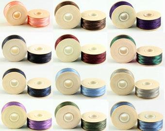 Nymo Beading Thread Size F White Nylon 41985 2 bobbins