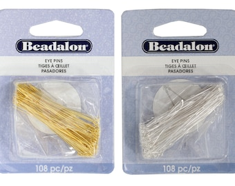 108-Piece Artistic Wire Beadalon Head Pin 0.5 by 50mm Silver Plated