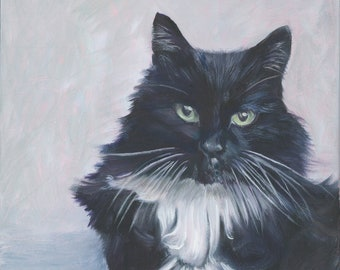 Pet Portrait, Custom Oil Painting - The perfect Gift - original painting - various sizes available